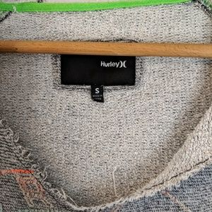 Hurley Tops - Hurley Gray Distressed Comfy Hoodie Sz S